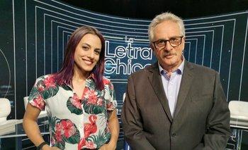 Ricardo Piñeyrúa y Denisse Legrand, conductores de La Letra Chica