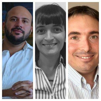 Marcelo Ascárate, Valeria Eguzquiza y Pablo Juambeltz