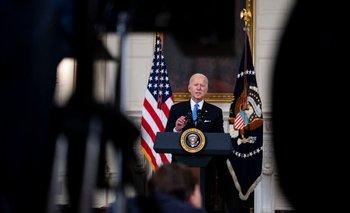 El presidente de Estados Unidos, Joe Biden, habló este martes en la Casa Blanca