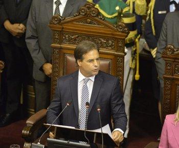 El presidente fue a la Asamblea General el 2 de marzo
