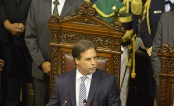 Presidente de la Repñublica, Luis Lacalle Pou, en el Parlamento