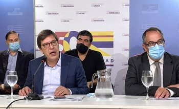 Javier Miranda, con los senadores Mahía, Andrade y el presidente de la departametalCarlos Varela