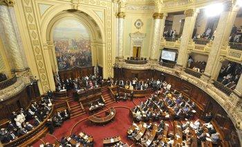Archivo. La Cámara de Senadores sesiona en el plenario de la Asamblea General por motivos sanitarios
