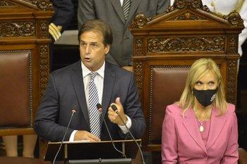 El presidente Luis Lacalle Pou presenta su balance de un año de gestión ante la Asamblea General.