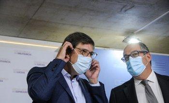 Javier Miranda junto al astorista José Carlos Mahía