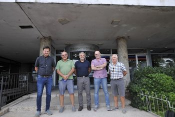 Pablo Hernández, Luis Camargo, Fernando Cáceres, Daniel Daners y Nelson Píriz
