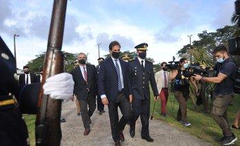 El presidente en la ceremonia de graduación de oficiales de Policía