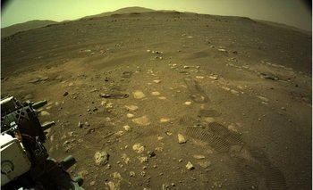 Las huellas del Perseverance en Marte