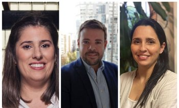 Paola Terra, Rodrigo Silvera y Cynthia Carballo