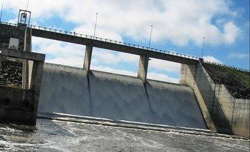 La represa de OSE de Paso Severino, en la cuenta del Río Santa Lucía chico