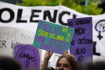 Marcha del Día de la Mujer en Montevideo