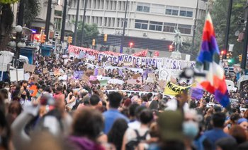 Esta vez hubo varias marchas que confluyeron en la plaza Libertad