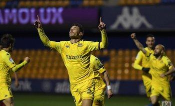 Xisco volvió al gol y se lo dedicó a su padre