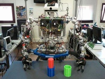 El robot humanoide TEO tiene un potente sistema sensorial.