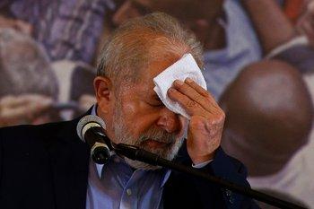 Lula da Silva durante una conferencia