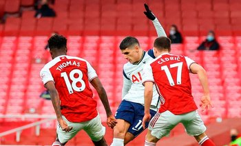 La rabona fantástica de Erik Lamela para el gol de Tottenham Hotspur ante Arsenal