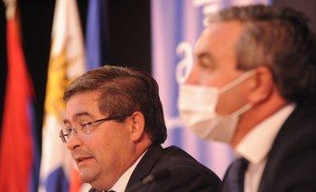 El presidente de ASSE, Leonardo Cipriani, y el vicepresidente, Marcelo Sosa.