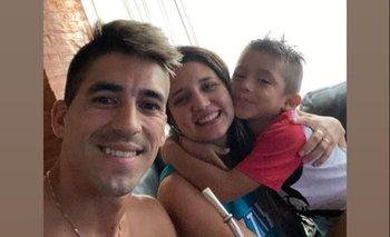 Leandro Fernández y su familia en Punta del Este