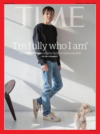 Elliot Page en la portada de Time