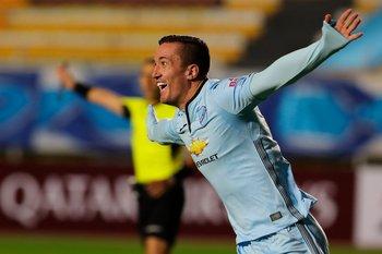 Leo Ramos celebra el gol de la apertura