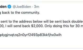 Hackeo a la cuenta oficial del presidente Joe Biden