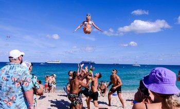 El sur de Florida se ha llenado de visitantes que llegan a pasar sus vacaciones de primavera.