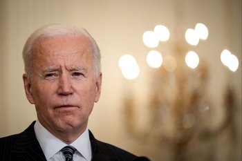 Joe Biden durante un discurso en Washington