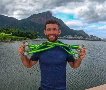Seis oros sudamericanos en remo: récord