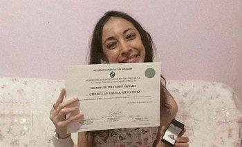 Chabelly Silva tenía 24 años, era maestra en Artigas, y había recibido un trasplante cardiopulmonar