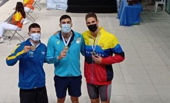 Lucas Peixoto de Brasil, Enzo Martínez de Uruguay y Alberto Mestre de Venezuela: oros