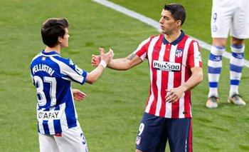 Pellistri y Suárez en la pasada Liga