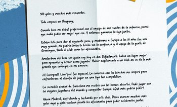 La carta de Luis Suárez a sus fanáticos tras convertir 500 goles