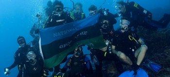 El equipo de National Geographic en una de sus investigaciones