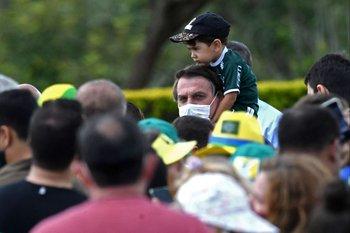 Jair Bolsonaro en su 66 cumpleaños
