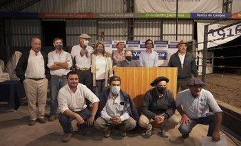 La subasta se realizó en el Centro de Ventas Ganaderas Don Tito, en Tacuarembó