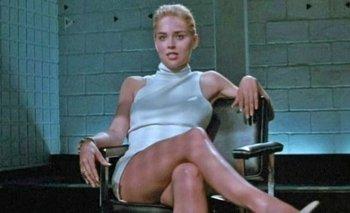 Sharon Stone durante la icónica escena en Bajos Instintos