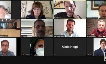 Captura de pantalla de la reunión de Cambiemos