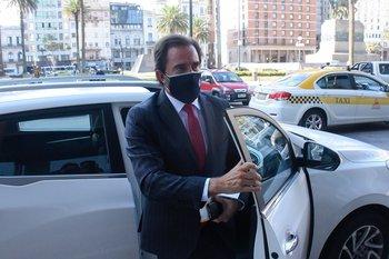 Germán Cardoso tras reunirse con Luis Lacalle Pou.