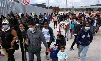 Migrantes en Tijuana, México