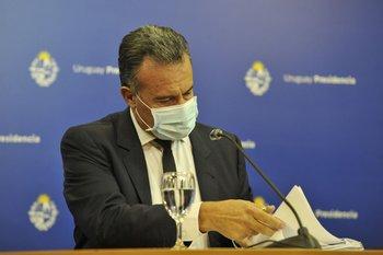 El ministro de Salud Pública, Daniel Salinas