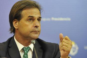Luis Lacalle Pou, presidente de la República.