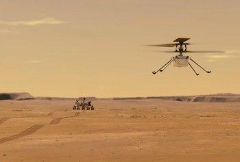 El helicóptero mide 1,2 metros de un extremo a otro.