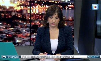La periodista Blanca Rodríguez debió cortar la emisión habitual de Subrayado para comunicar la muerte de Alberto Sonsol