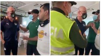 Alfredo Arias fue increpado por hinchas de Deportivo Cali