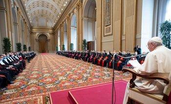 Presentación del papa Francisco con motivo de la inauguración de un nuevo año judicial para el Tribunal del Estado de la Ciudad del Vaticano, creado en 1929.