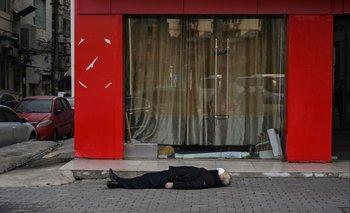 Muerte por coronavirus en Wuhan, China