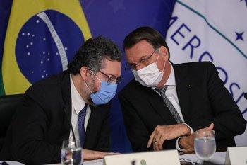 Ernesto Araújo con el presidente de Brasil, Jair bolsonaro