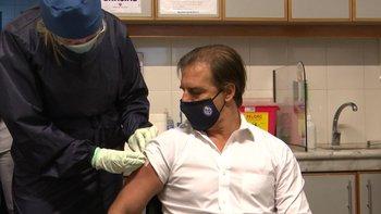 Lacalle se vacunó el lunes en el Maciel