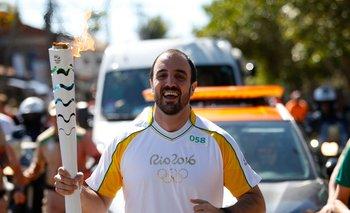 Rodrigo Ormaechea lleva la antorcha olímpica en los JJ.OO de Río de Janeiro de 2016