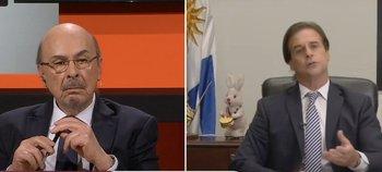 El presidente Lacalle Pou fue entrevistado en el programa Desde el llano, de TN